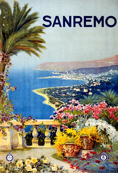 風景「San Remo Travel Poster」:写真・画像(8)[壁紙.com]