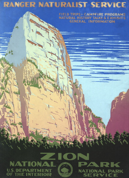National Park「Zion National Park Poster」:写真・画像(13)[壁紙.com]