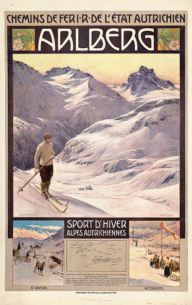 Health Spa「Travel Poster Advertising Winter Sports In Arlberg」:写真・画像(9)[壁紙.com]