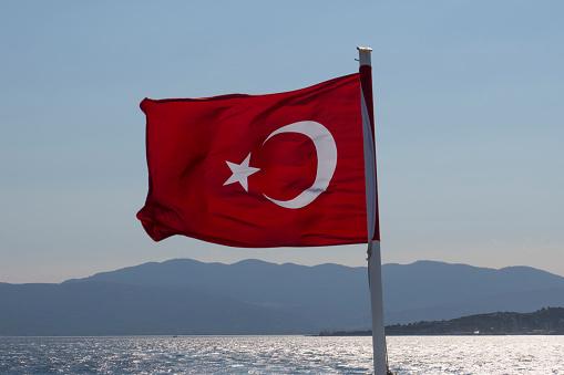Aegean Sea「Turkish flag」:スマホ壁紙(8)