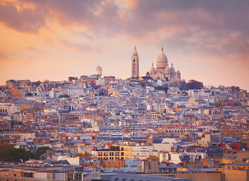 Montmartre「Basilica Sacré-Cœur and Montmarte」:スマホ壁紙(10)