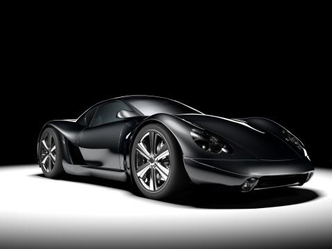 Sports Car「Black Sports Car」:スマホ壁紙(19)
