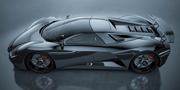 Racecar「Black Sports Car」:スマホ壁紙(19)
