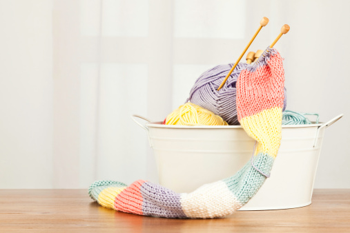 Knitted「Handknitted Scarf and Yarn」:スマホ壁紙(5)