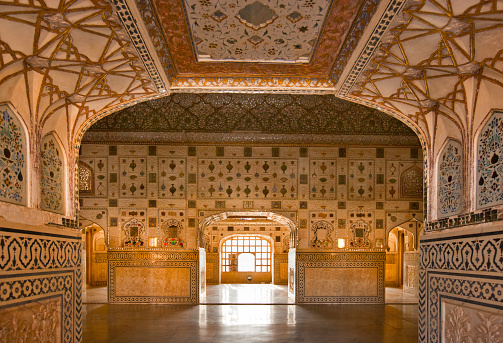 Rajasthan「Diwan-i-Khas or Hall of Private Audience at the Amber Fort, Jaipur」:スマホ壁紙(3)