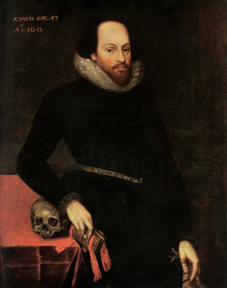 William Shakespeare「The Ashbourne Portrait of Shakespeare, 16th century.Artist: Cornelius Ketel」:写真・画像(0)[壁紙.com]