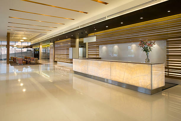 Luxurious Modern Lobby With Waiting Area:スマホ壁紙(壁紙.com)