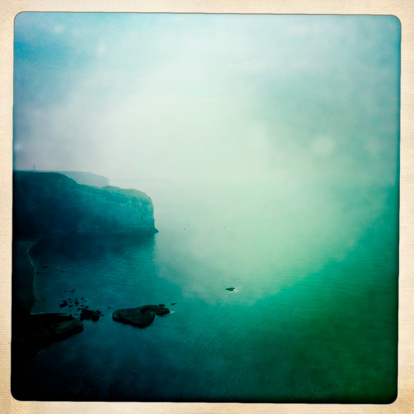 Auto Post Production Filter「French cliffs at Etretat in the mist」:スマホ壁紙(16)