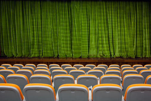 Stage Set「Green color velvet curtain and seats」:スマホ壁紙(13)