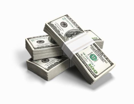 American One Hundred Dollar Bill「Bundles of money」:スマホ壁紙(0)