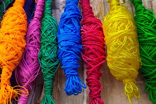 Rajasthan「Bundles of colorful rope cords」:スマホ壁紙(19)