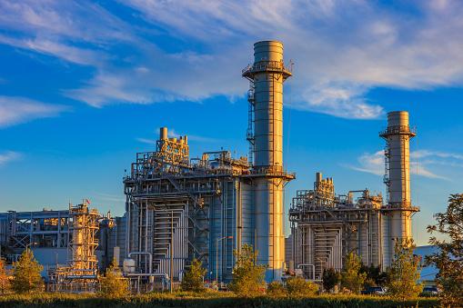 Power Station「Natural gas fired turbine power plant,fall,field,CA」:スマホ壁紙(16)