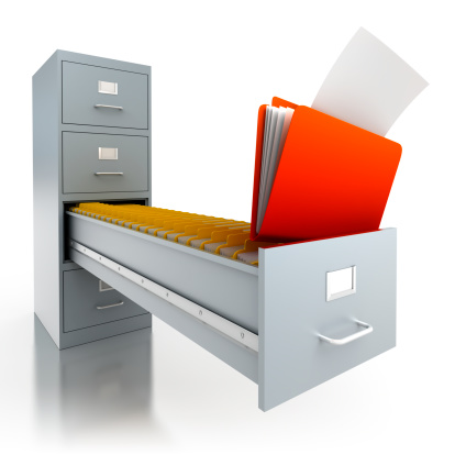 Storage Compartment「Filing cabinet with folders in deep drawer - isolated/clipping path」:スマホ壁紙(15)