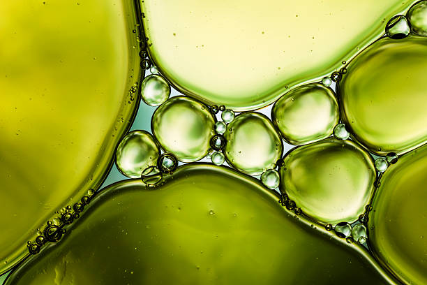 Oil & Water - Abstract Background Green Macro:スマホ壁紙(壁紙.com)