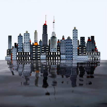 Medicine「Waterfront city made from pills and medicines」:スマホ壁紙(7)