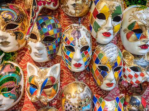 Gift Shop「Group of Carnival mask on wall in Venice」:スマホ壁紙(0)