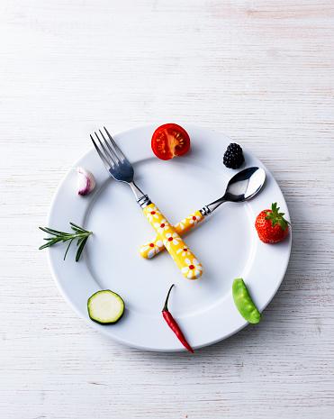 皿「Tableware and food as a clock」:スマホ壁紙(9)