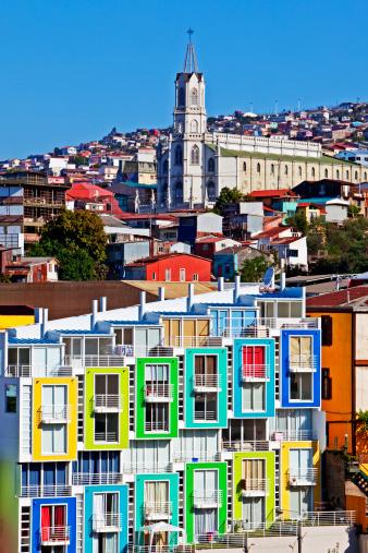 Window Frame「Valparaiso , Chile colorful buildings」:スマホ壁紙(14)