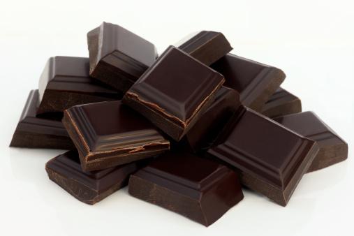 チョコレート「Pile of tempting, dark, rich chocolate squares.」:スマホ壁紙(8)
