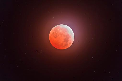 皆既月食「Total eclipse of the moon.」:スマホ壁紙(8)