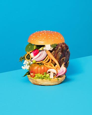 Vertical「Vegetable Burger」:スマホ壁紙(5)