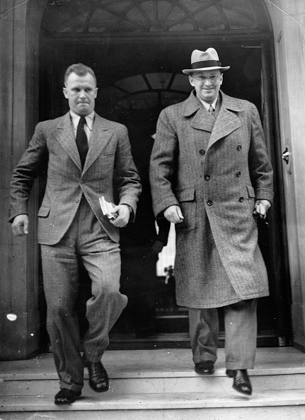 Politics and Government「The Sudeten German politician Konrad Henlein (r.) in London. Photograph. About 1938. (Photo by Imagno/Getty Images) Der Sudetendeutsche Politiker Konrad Henlein (re.) in London. Photographie. Um 1938.」:写真・画像(10)[壁紙.com]