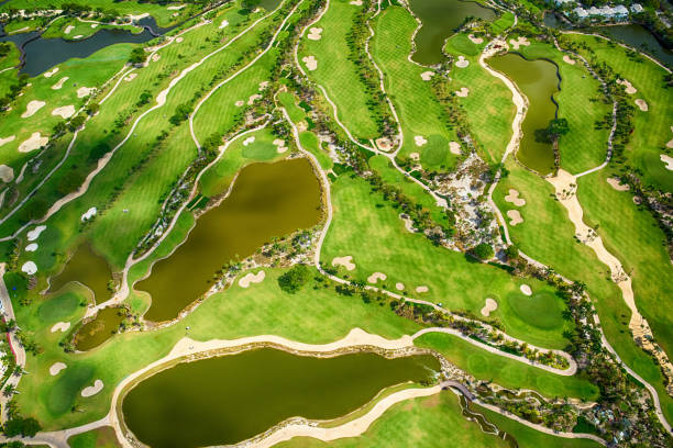 Florida Golf Course Aerial View:スマホ壁紙(壁紙.com)