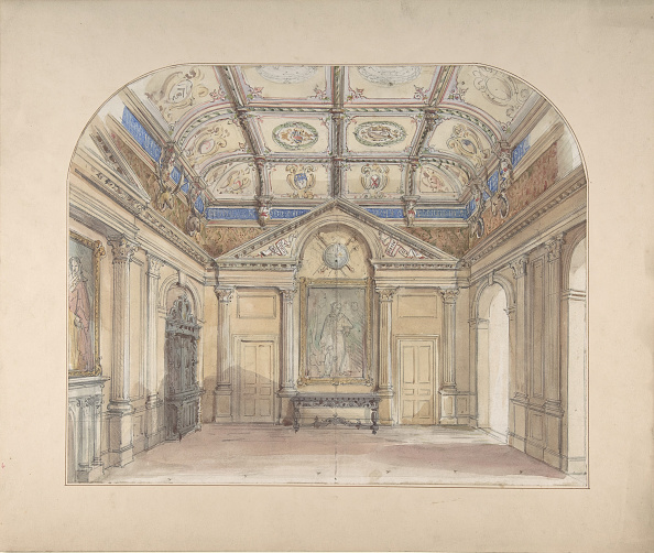 Architectural Column「Interior With Coffered Ceiling And Corinthian Order Applied To Walls」:写真・画像(17)[壁紙.com]