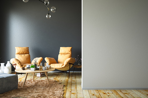 Wall - Building Feature「Interior with Armchair and Empty Wall」:スマホ壁紙(19)