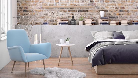 Bed - Furniture「Bedroom interior」:スマホ壁紙(4)