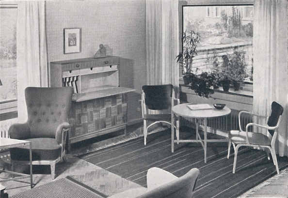 Home Interior「A Swedish Living-Room With Furniture Designed By Caarl-Axel Acking And Made By Svenska Mobelfabrike Artist: Unknown」:写真・画像(14)[壁紙.com]