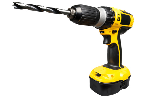 Drill Bit「Cordless electric drill isolated on white」:スマホ壁紙(1)