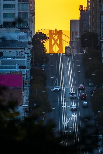 Cable Car「California Street at Sunrise, San Francisco」:スマホ壁紙(13)