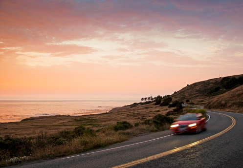 California State Route 1「California Coastal Hwy 1 after Sunset」:スマホ壁紙(7)