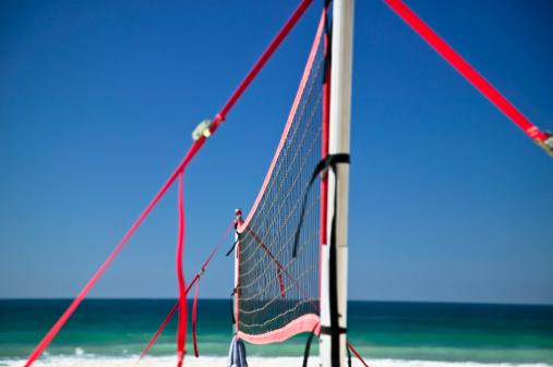Taking a Shot - Sport「USA, California, San Diego, volley net at Mission Beach」:スマホ壁紙(16)