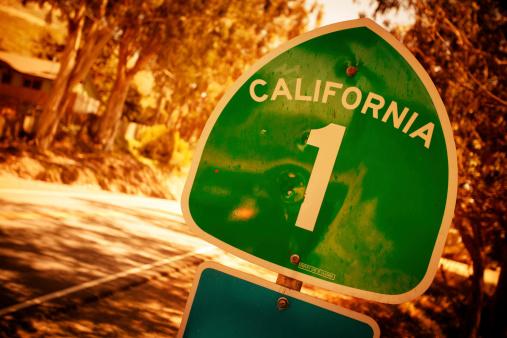 California State Route 1「California Road Sign」:スマホ壁紙(9)