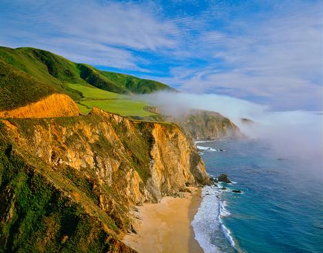 California State Route 1「California  coast shoreline Big Sur with rocky cliffs」:スマホ壁紙(16)
