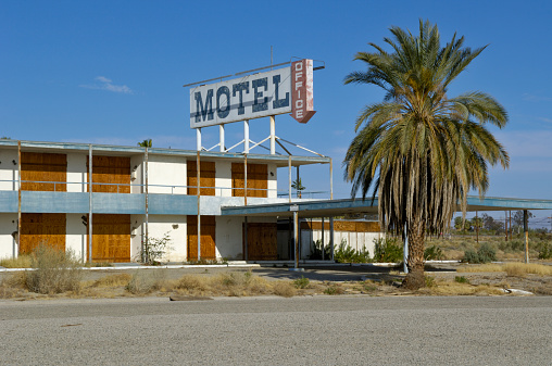 Motel「USA, California, Salton Sea, North Shore, derelict motel」:スマホ壁紙(9)