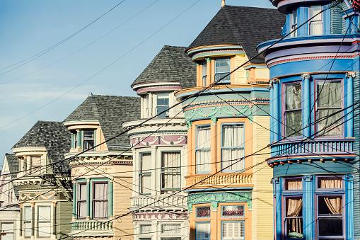 Gable「USA, California, San Francisco, row of houses」:スマホ壁紙(8)