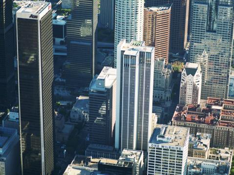 アメリカ合衆国「米国カリフォルニア州ロサンゼルス、ダウンタウンエリアの空からの眺め」:スマホ壁紙(10)