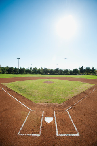 野球「USA, California, Ladera Ranch, baseball diamond」:スマホ壁紙(15)