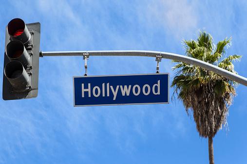 Hollywood - California「USA, California, Los Angeles, Hollywood, Sign and traffic light」:スマホ壁紙(18)