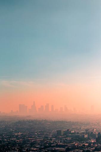 City Of Los Angeles「USA, California, Los Angeles, smog over Los Angeles」:スマホ壁紙(17)