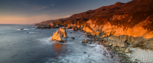 Big Sur「USA, California, Garrapata State Park, shoreline, sunset」:スマホ壁紙(7)