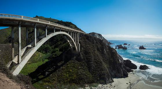 California State Route 1「USA, California, Big Creek Brigde on Coastal Highway One」:スマホ壁紙(2)