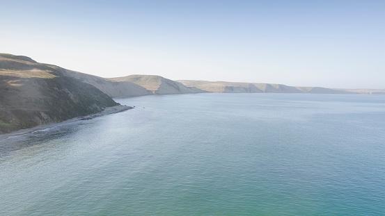 Pacific Ocean「USA, California, Inverness, Point Reyes, Endless coastline」:スマホ壁紙(15)
