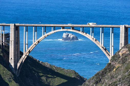 Bixby Creek Bridge「USA, California, Big Sur, Pacific Coast, National Scenic Byway, Bixby Creek Bridge, California State Route 1, Highway 1」:スマホ壁紙(13)