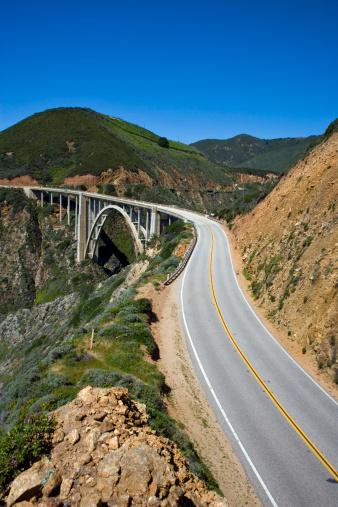 California State Route 1「USA, California, Big Sur, Bixby Bridge and Route 1」:スマホ壁紙(8)