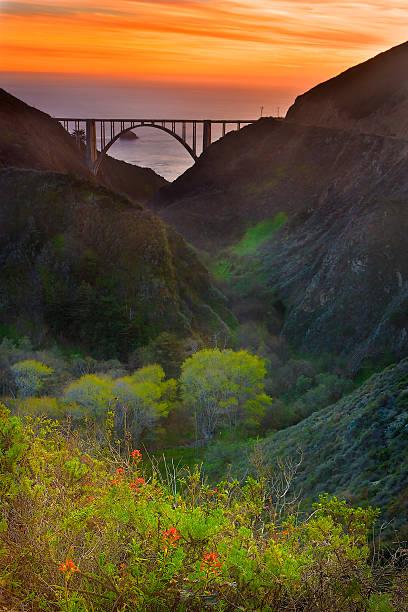 USA, California, Big Sur, Bixby Bridge:スマホ壁紙(壁紙.com)