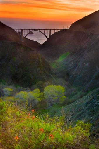 Bixby Creek Bridge「USA, California, Big Sur, Bixby Bridge」:スマホ壁紙(19)
